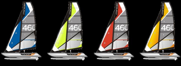 Farben 460 Esprit Segelboot Katamaran aufblasbar transportabel