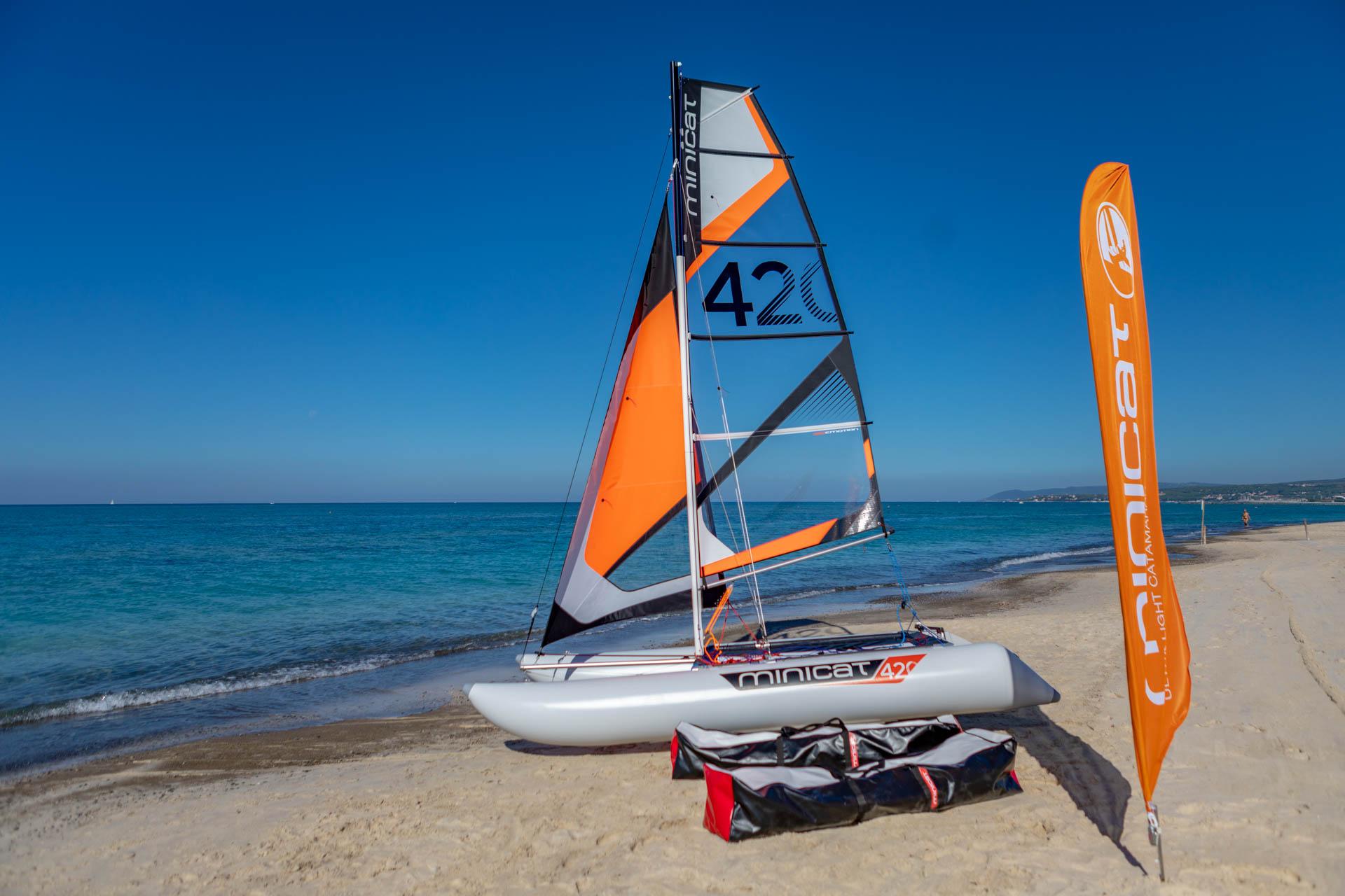 minicat 420 segelboot minikatamaran